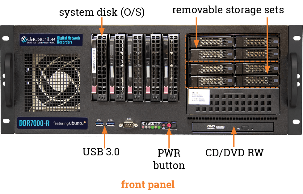 DDR7000-R4 front panel